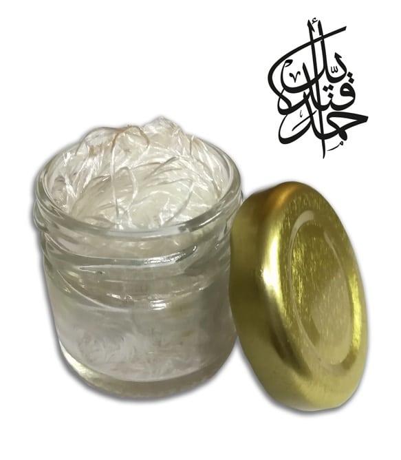 Inkwell and silk fibers